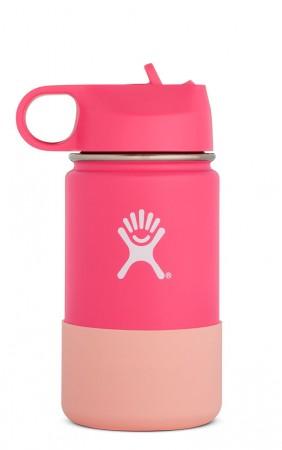 【線上體育】HYDRO FLASK HFW12SWBB62512oz 兒童寬口保溫鋼瓶 火鶴粉, OS