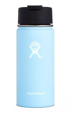 【線上體育】HYDRO FLASK HFW16FP44016oz 咖啡蓋寬口保溫鋼瓶 冰雪藍, OS