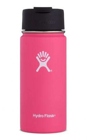 【線上體育】HYDRO FLASK HFW16FP61816oz 咖啡蓋寬口保溫鋼瓶 西瓜紅, OS
