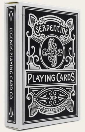 【USPCC 撲克】Serpentine Playing Cards black 蛇紋石撲克牌 黑色  S10234805