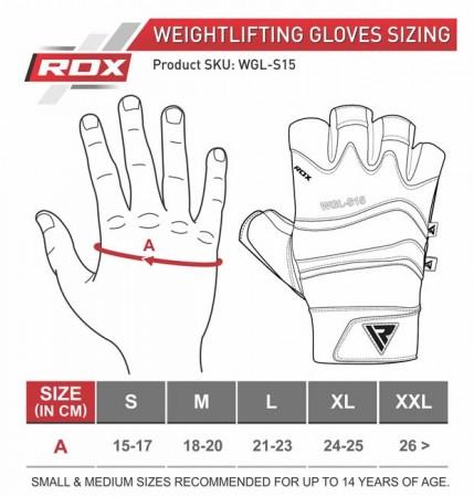 【線上體育】RDX GYM 舉重手套 皮革 S15 灰