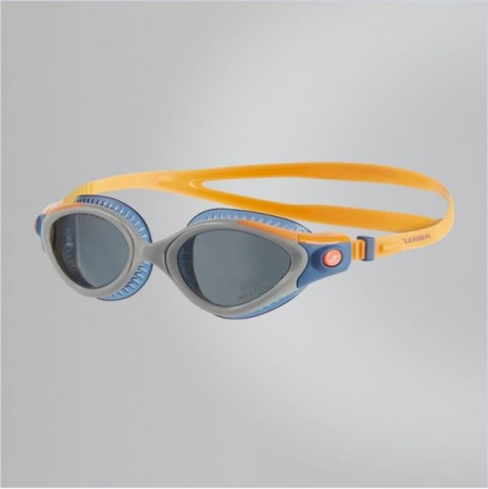 【線上體育】speedo 成人女用運動鐵人泳鏡 Futura Biofuse Tri 藍橘 SD811257B986