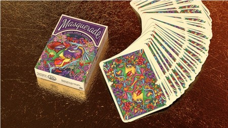 【USPCC撲克】Masquerade: Mardi Gras Edition Playing Cards by Denyse Klett S103049522