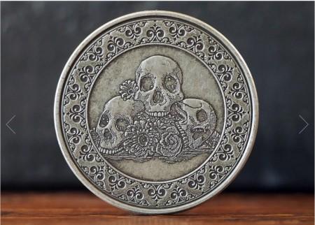 【USPCC撲克】Calaveras Antique 鍍銀幣 S103049699-7