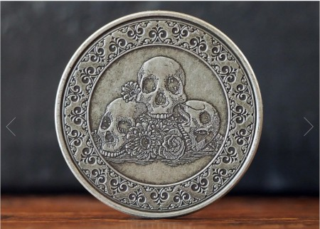 【USPCC撲克】Calaveras Antique 鍍銀幣 S103049699-7
