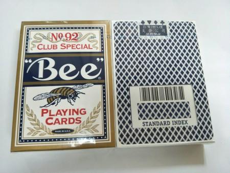 Bee美國正92撲克(金邊)藍色(新文發封標)-S10004-1