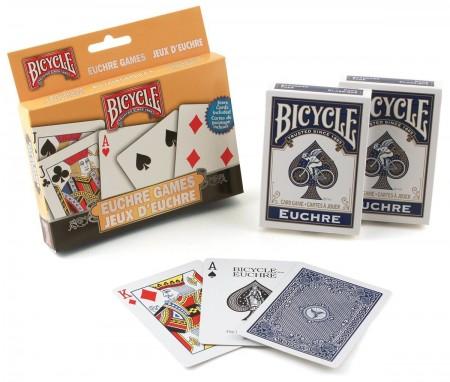 【USPCC撲克】605 BICYCLE EUCHRE 遊戲組 含書 S1072125