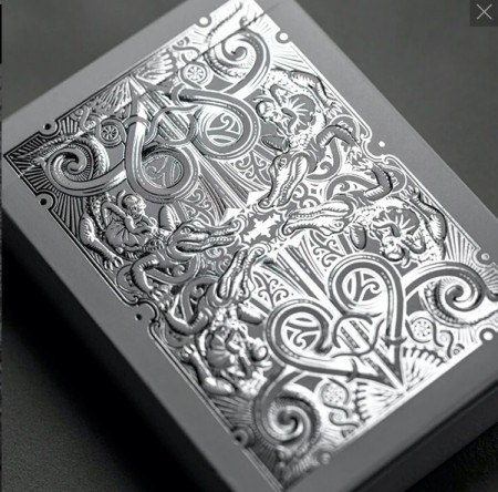 【USPCC撲克】SILVER GATORBACKS PLAYING CARDS S103050341