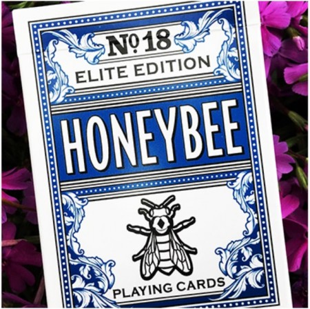 【USPCC撲克】Honeybee Elite Edition (Blue) Playing Cards S103049538