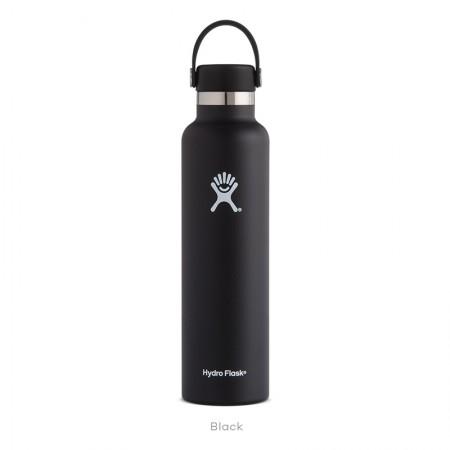 【線上體育】HYDRO FLASK HFS24SX001HYDRATION系列 真空保冷/熱兩用鋼瓶24oz標準口 時尚黑, OS