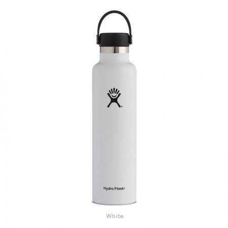 【線上體育】HYDRO FLASK HFS24SX110HYDRATION系列 真空保冷/熱兩用鋼瓶24oz標準口 經典白, OS