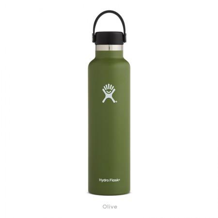 【線上體育】HYDRO FLASK HFS24SX306HYDRATION系列 真空保冷/熱兩用鋼瓶24oz標準口 橄欖綠, OS