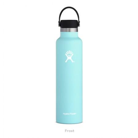 【線上體育】HYDRO FLASK HFS24SX440HYDRATION系列 真空保冷/熱兩用鋼瓶24oz標準口 冰雪藍, OS