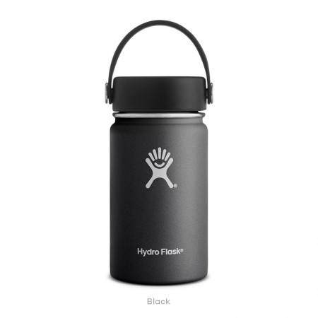【線上體育】HYDRO FLASK HFW12TS001HYDRATION系列 真空保冷/熱兩用鋼瓶12oz寬口 時尚黑, OS