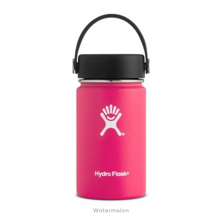 【線上體育】HYDRO FLASK HFW12TS618HYDRATION系列 真空保冷/熱兩用鋼瓶12oz寬口 西瓜紅, OS