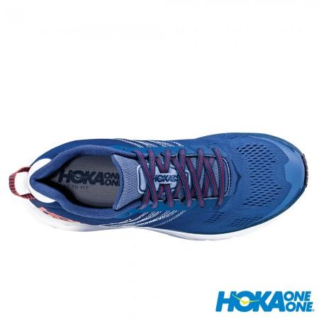 【線上體育】 HOKA ONE ONE男 Clifton 6 寬楦 超緩震跑鞋 英倫藍/自然光, 8.5~11送salomon頭巾