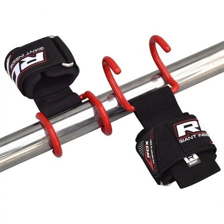 RDX040 【線上體育】RDX 健身 PRO 吊鉤15 拉力帶 紅 NEW