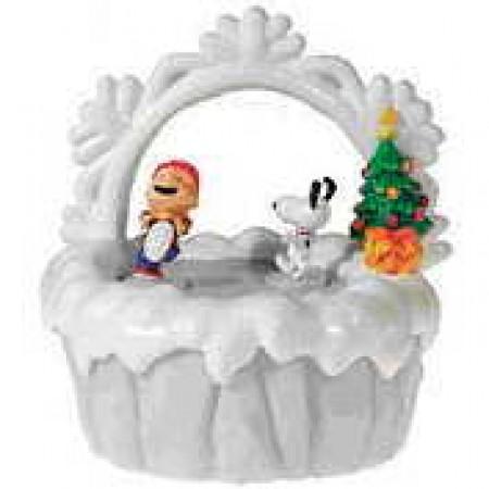 【線上體育】史努比聖誕音樂盒Linus & LucyS09941