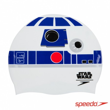 SPEEDO 成人矽膠泳帽 Slogan Print R2D2【線上體育】SD808385C631