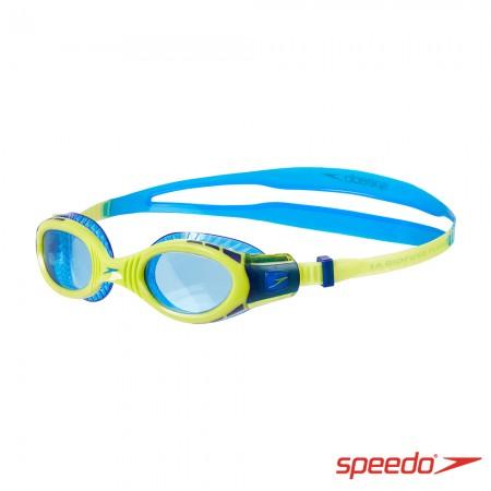SPEEDO 兒童運動泳鏡 Futura Biofuse Flexiseal 萊姆綠/藍【線上體育】SD811595C585N
