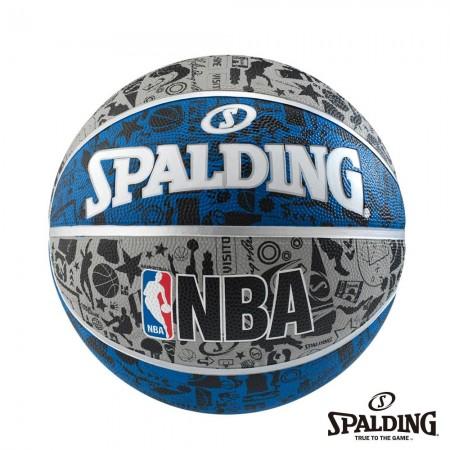 斯伯丁NBA 塗鴉系列 - 灰/藍/黑 #7 SPA83176