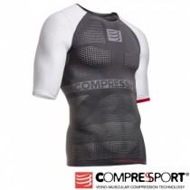 【線上體育】COMPRESPPORT  CS-OnOff 短袖 灰白 L