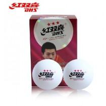 【線上體育】紅雙喜三星桌球 6入(白)40+ 新材質D77925