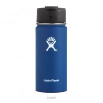 【線上體育】HYDRO FLASK 16oz 咖啡蓋寬口保溫鋼瓶 鈷藍色, OS