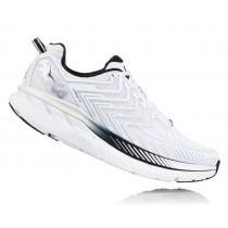 【線上體育】HOKA ONE ONE男 CLIFTON 4 路跑鞋 白/黑, 8.5