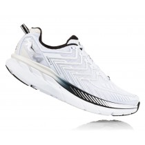 【線上體育】HOKA ONE ONE男 CLIFTON 4 路跑鞋 白/黑, 8