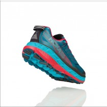 【線上體育】HOKA ONE ONE男 Stinson ATR 4全地形鞋 珊瑚藍/正紅10 送運動帽