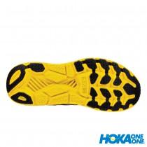 【線上體育】 HOKA ONE ONE男 Clifton 6 寬楦 超緩震跑鞋 星雲藍/檸檬黃, 9~10送salomon頭巾