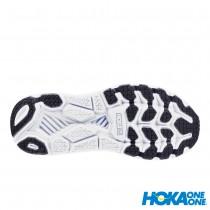 【線上體育】 HOKA ONE ONE女 Clifton 6 寬楦 超緩震跑鞋 自然光/月光藍, 6.5~7.5 送salomon頭巾