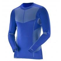 【線上體育】SALOMON男 PRIMO 保暖內層T恤 光灰藍, L