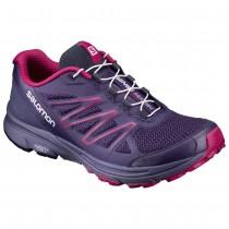 【線上體育】SALOMON女 SENSE MARIN 野跑鞋 珊瑚紅/ 白/ 葡萄紫, 7