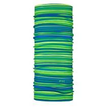 【線上體育】經典款多功能機能頭巾 萊姆綠條紋, OS