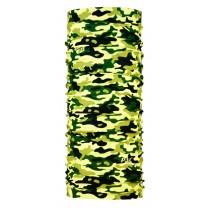 【線上體育】經典款多功能機能頭巾 綠色迷彩, OS