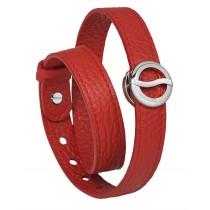 【線上體育】Philip Stein翡麗詩丹能量手環-【皮革紅】