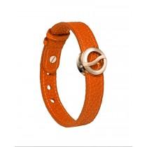 【線上體育】Philip Stein翡麗詩丹能量手環-【皮革橘】