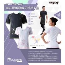 【線上體育】clubfit男-礦石纖維負離子涼感T恤-黑S