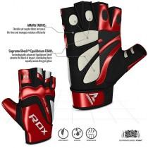 【線上體育】RDX GYM 舉重手套 PAPER 皮革 紅 S8