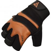 【線上體育】RDX GYM 舉重手套 皮革 S15 棕色