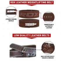 【線上體育】RDX 舉重腰帶 專業快扣 棕色 皮革 RDX064