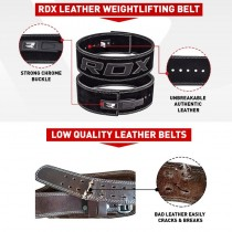 【線上體育】RDX 舉重腰帶 專業快扣 黑 皮革 RDX065