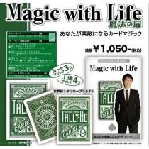【線上體育】TALLY-HO 綠色背 套裝撲克牌 圓背MAGIC WITH LIFE