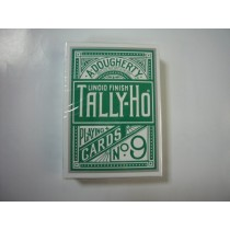 【線上體育】TALLY-HO 綠色背 撲克牌 圓背(單一撲克)