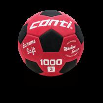 【線上體育】CONTI 3號軟式安全足球 紅/黑