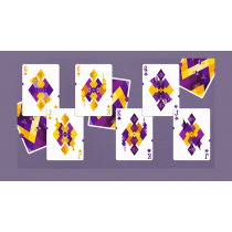 【USPCC 撲克】Diamon Playing Cards N° 14 Purple Star Playing Cards by Dut S103050805