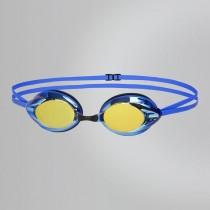 【線上體育】SPEEDO成人競技鏡面泳鏡 Opal Mirror 藍-金SD8083388421