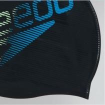 SPEEDO 成人矽膠泳帽 Slogan Print Logo黑【線上體育】SD808385C718